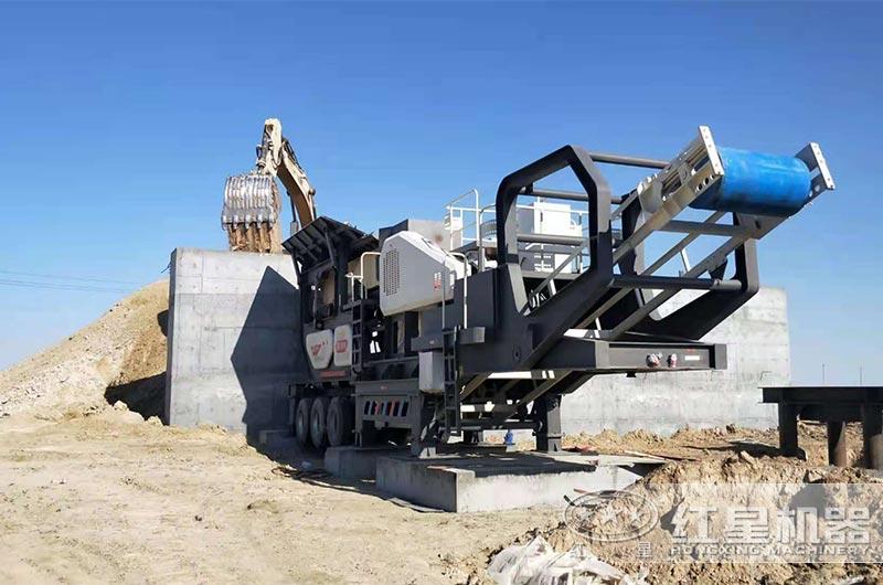 安徽250TPH铁矿石粗破移动式破碎机