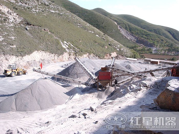 生产沙子现场
