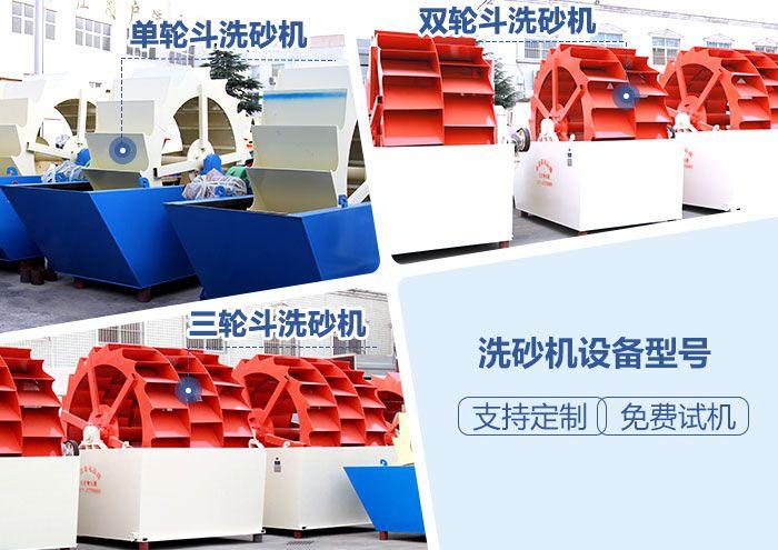 水轮式洗砂机分类