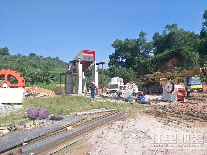 时产量200吨的环保型石料机制砂生产线