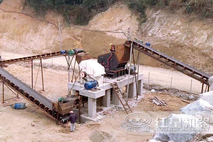 河北用户石灰石打砂生产线现场