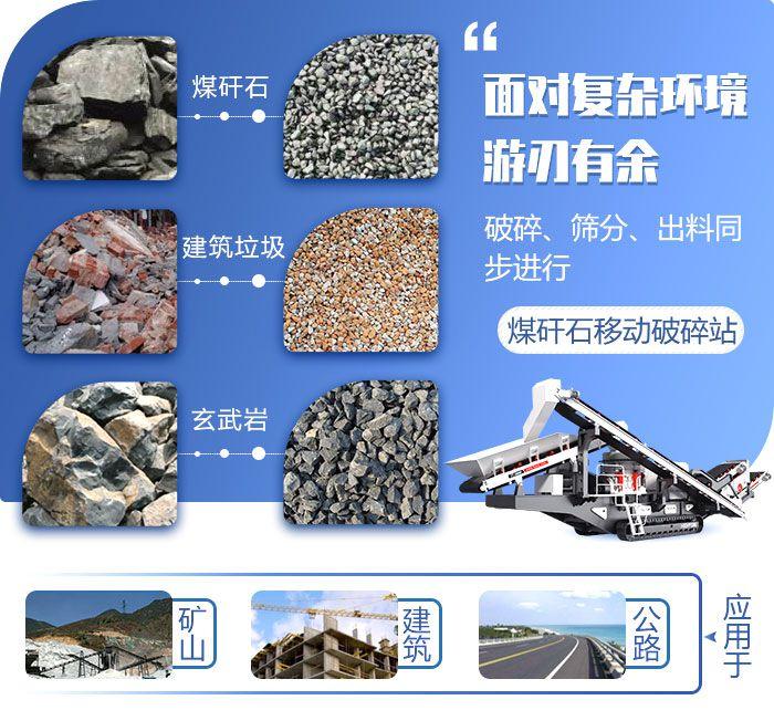 煤矸石移动破碎站应用范围
