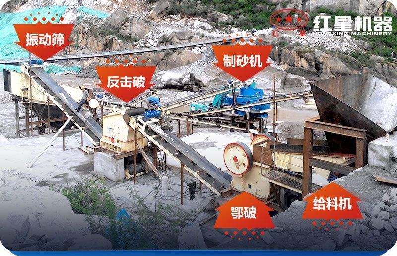 砂石生产线中所使用的石头破碎设备