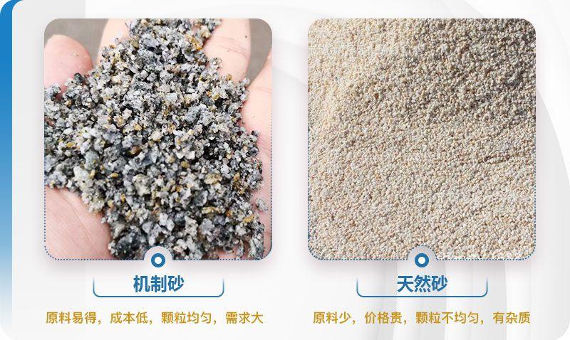 机制砂和天然砂对比图