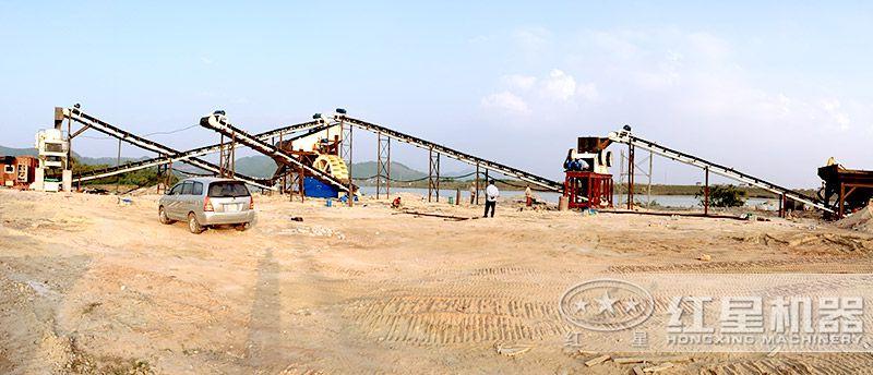 固定式机制砂生产线(制砂机为核心设备)
