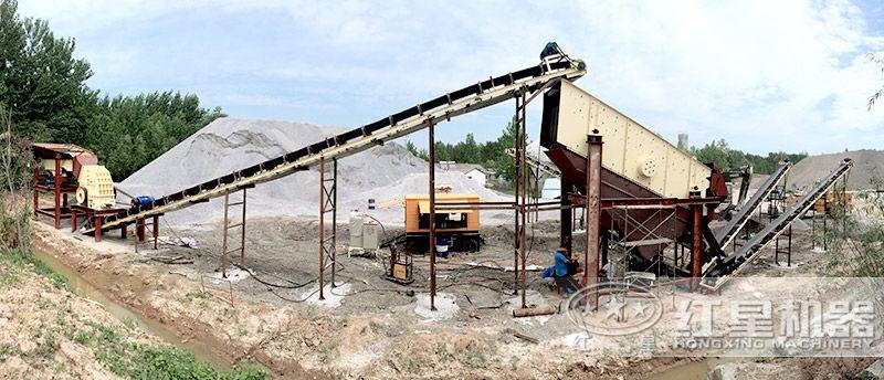 固定式机制砂生产线(重锤破为核心设备)