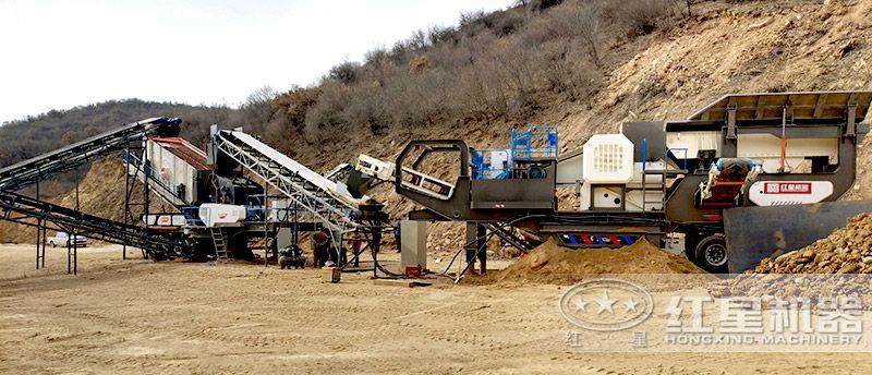移动式机制砂生产线(两台移动破联合配置)