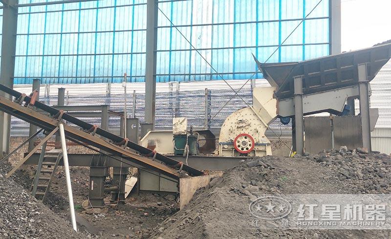 矿渣破碎机现场