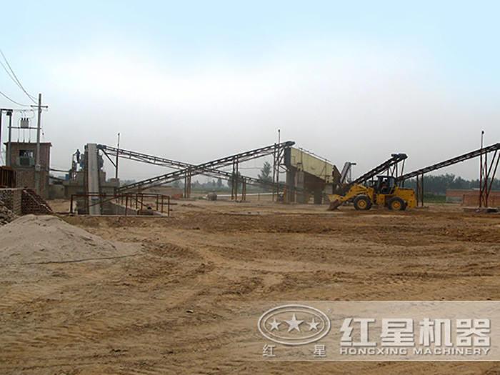 石英石制砂生产线安装现场
