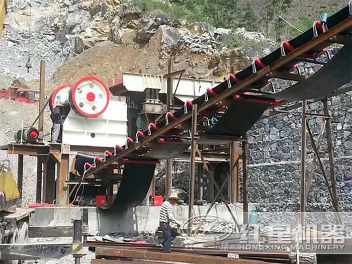 花岗岩打砂生产线安装现场