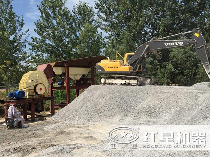 时产可达3000吨的破石生产线