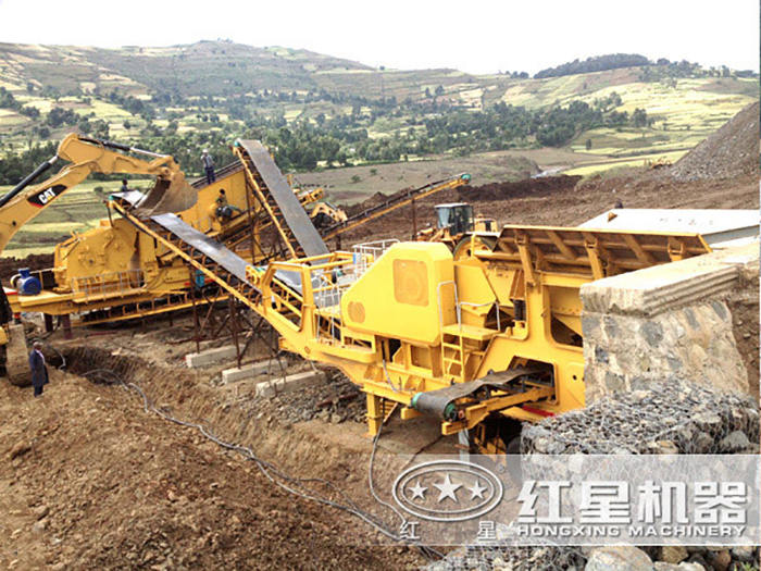 大理石生产线安装现场