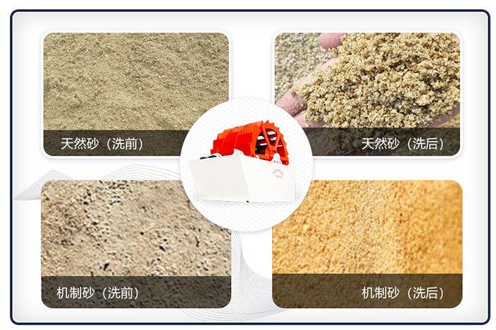 洗砂机洗过的沙子更干净