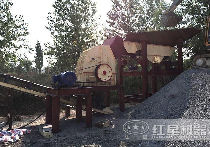 时产量100吨碎石生产线