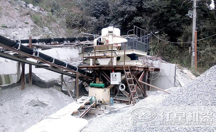 福建破碎制砂生产线现场