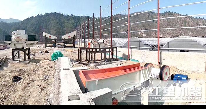 VSI7611制砂机制沙现场