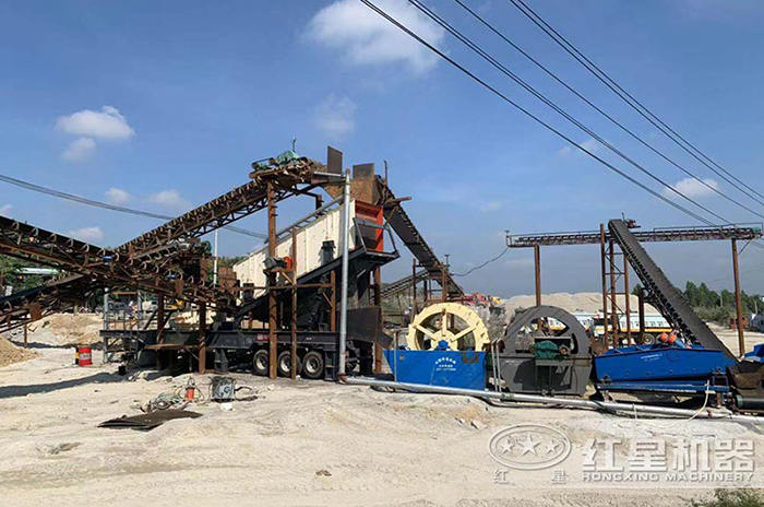 福建移动式制砂生产线