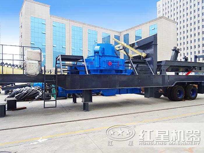 厂区摆放的移动式制砂机