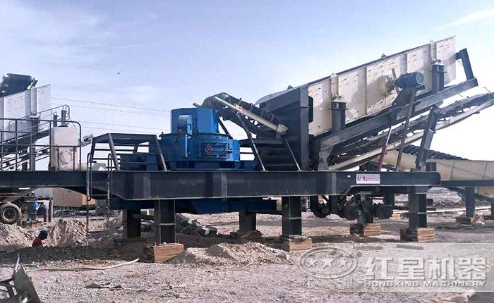 移动式制砂机生产线现场