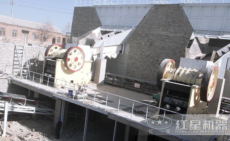 安徽花岗岩破碎制砂生产线安装现场