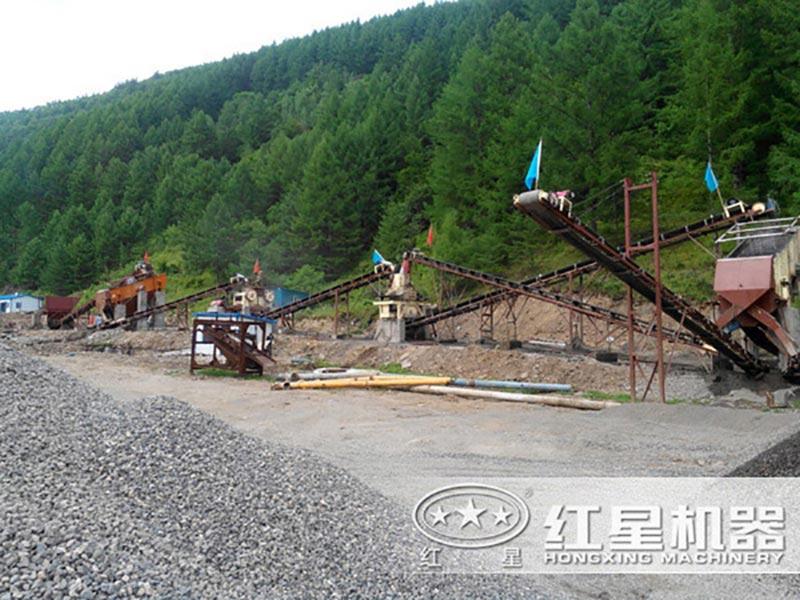 时产300吨青石制砂生产线