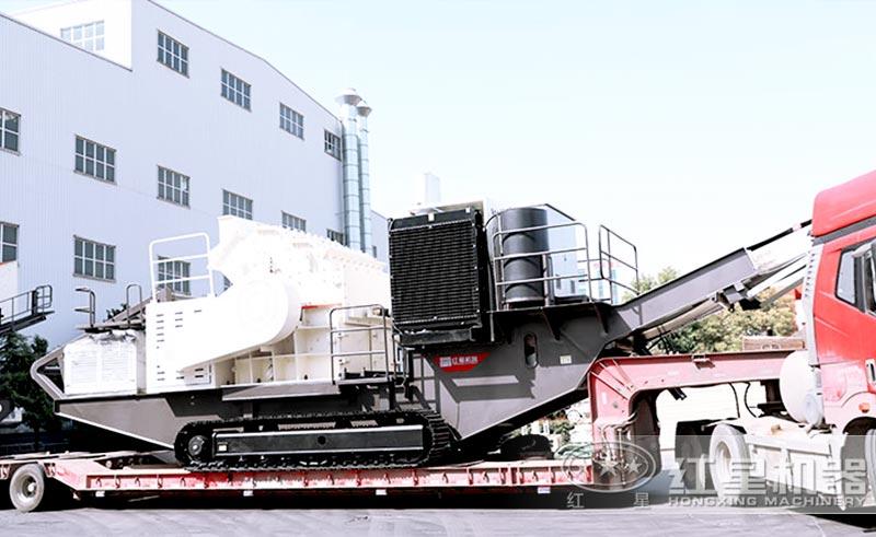 客户定制的时产300吨的履带式移动破碎机发货图