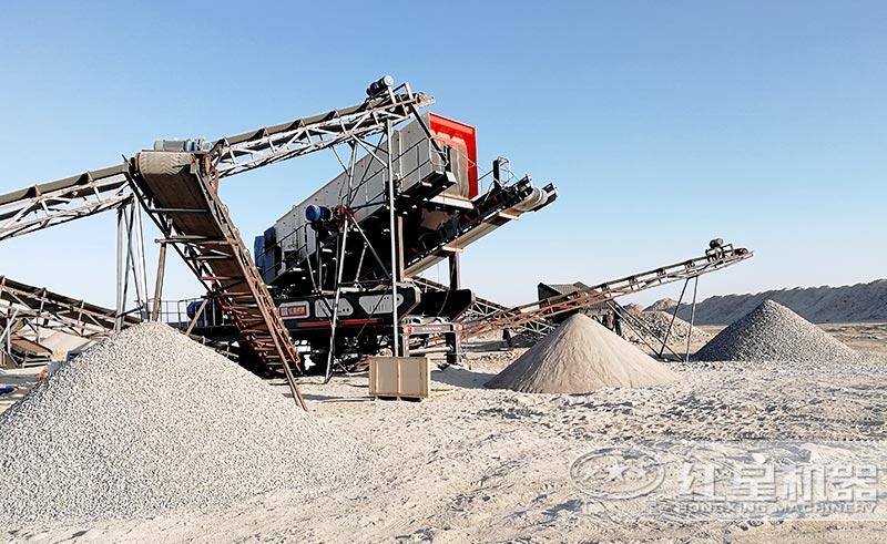 时产200吨的可以移动的河卵石制砂机