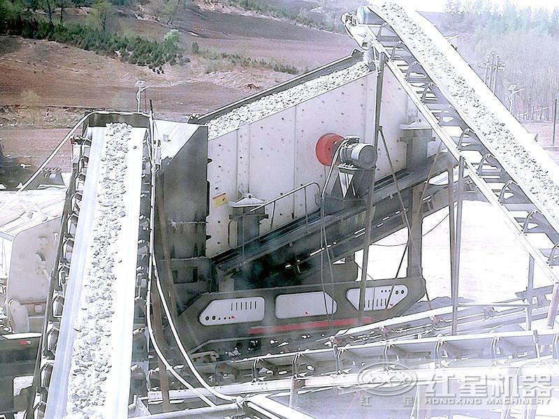 大型车载移动式粉石机