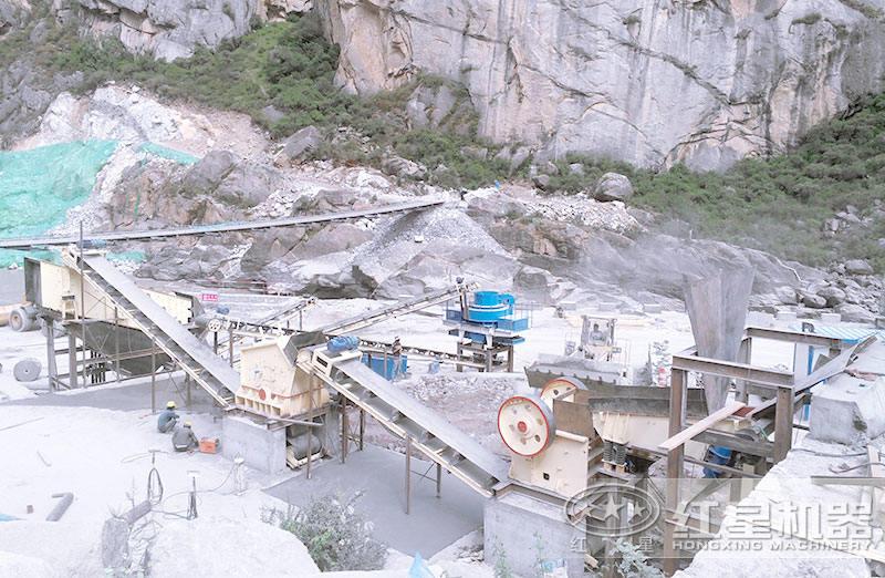 小型反击碎石机配置制沙生产线