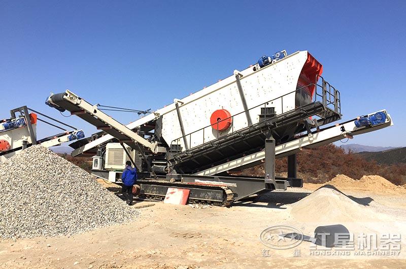 履带式移动环保制砂生产线