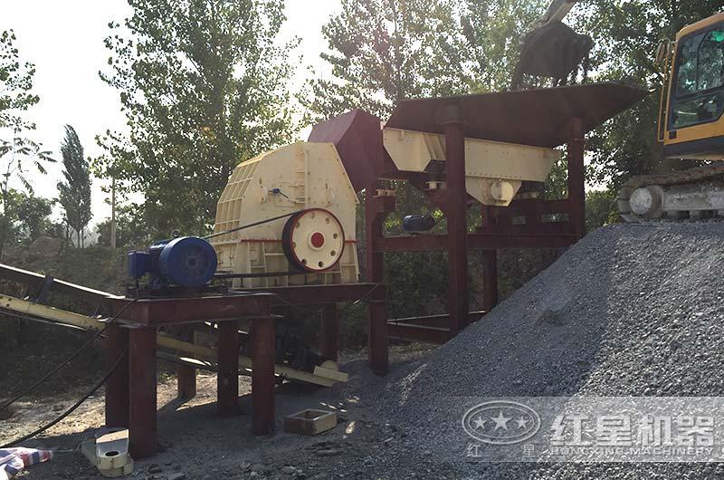 河北锤破制砂生产线现场