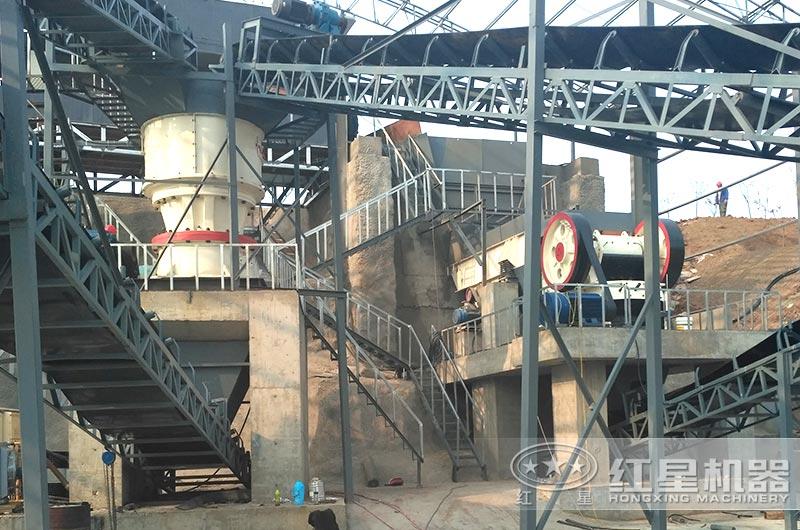 江苏南通时产200吨制砂生产线