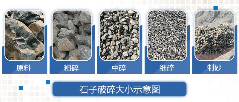 花岗岩制砂后的成品展示