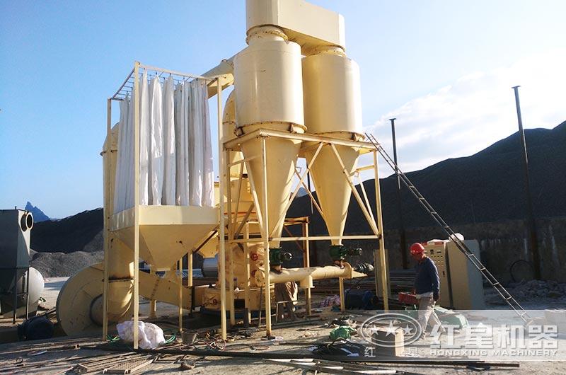 硅石粉加工现场
