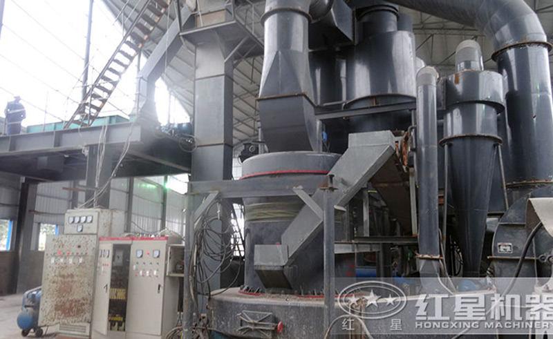 粉煤灰生产现场