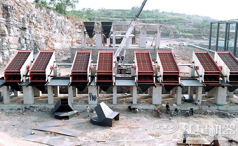 大型制砂厂前期打桩现场