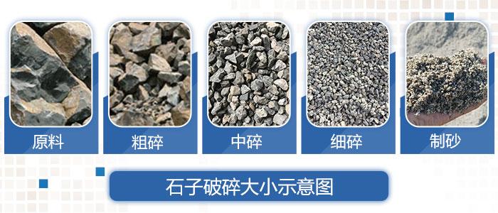 不同规格的毛石成品