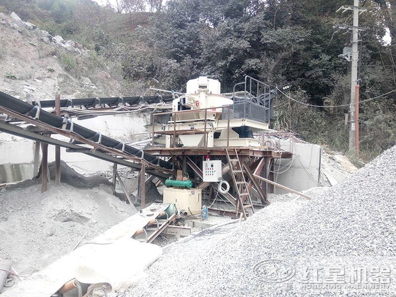 VSI制砂机打砂作业现场