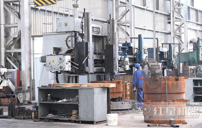 红星机器打砂机设备生产车间
