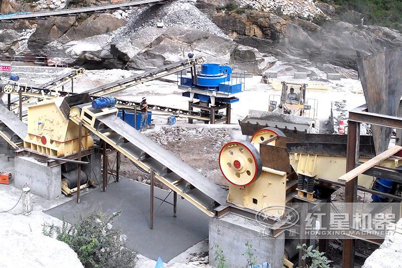 河北尾矿石生产案例现场