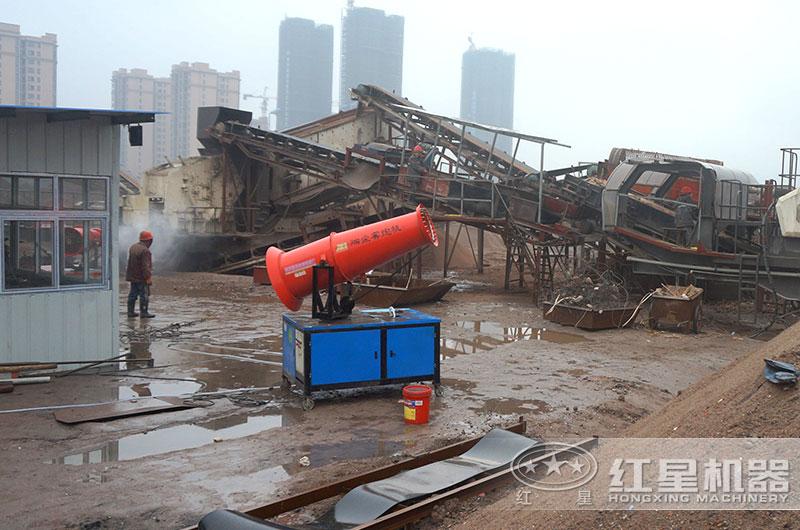 湖北武汉建筑垃圾处理现场