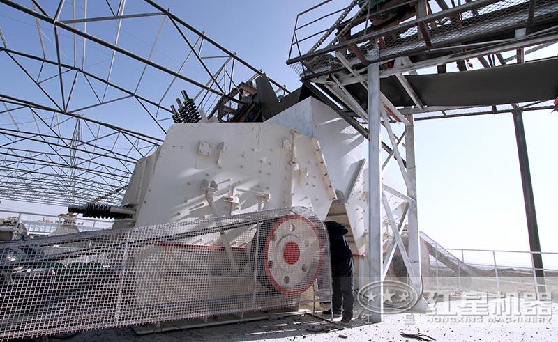 红星1010反击式破碎机安装现场