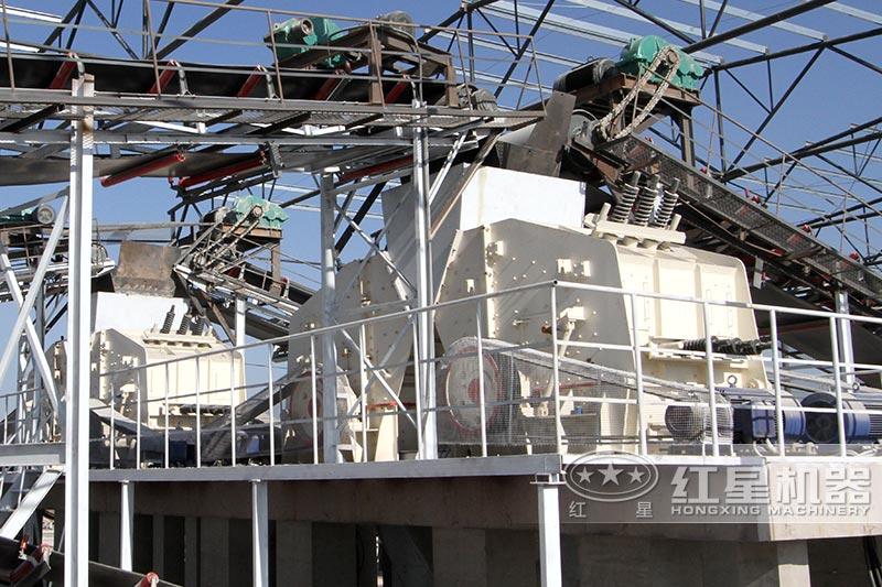 山东石料生产线反击破现场