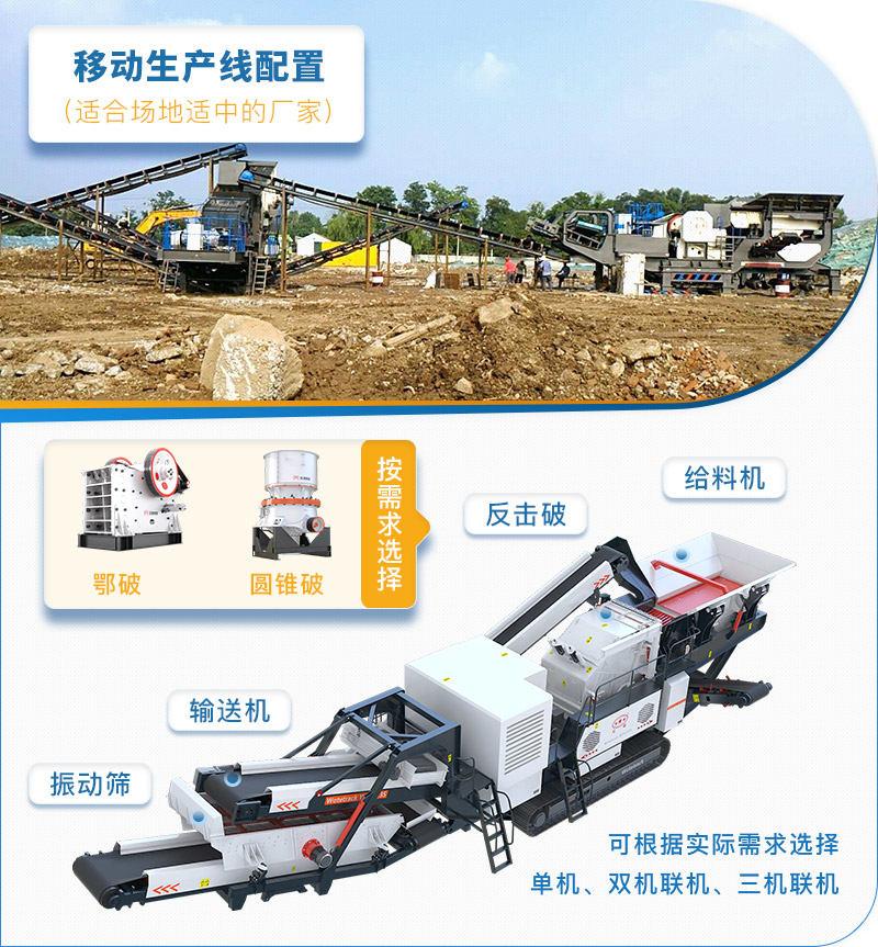 适合场地适中的移动式砂石料生产线使用