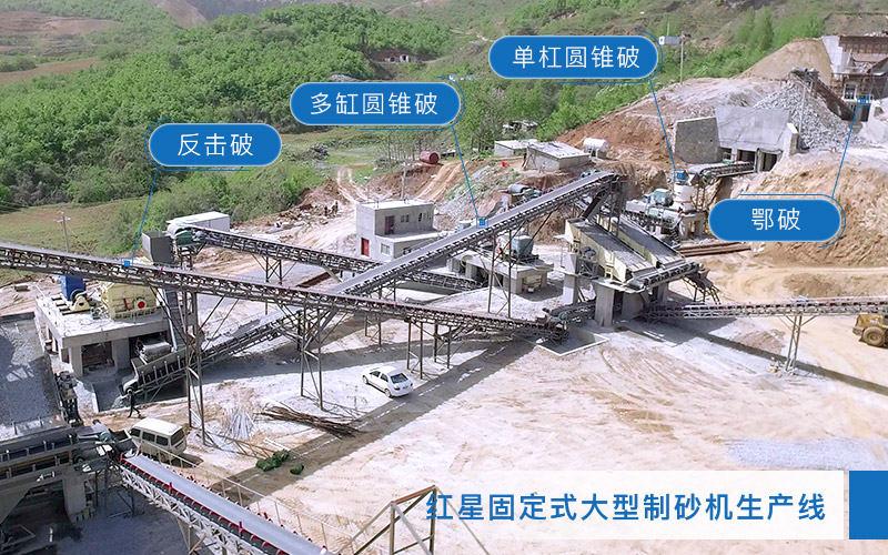 固定式大型制砂机生产线安装图