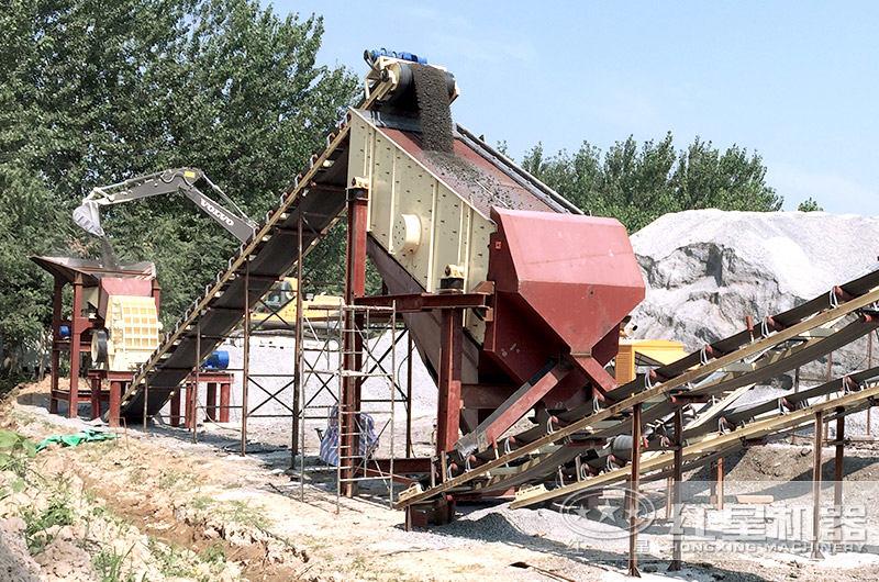 石灰石粉碎加工现场