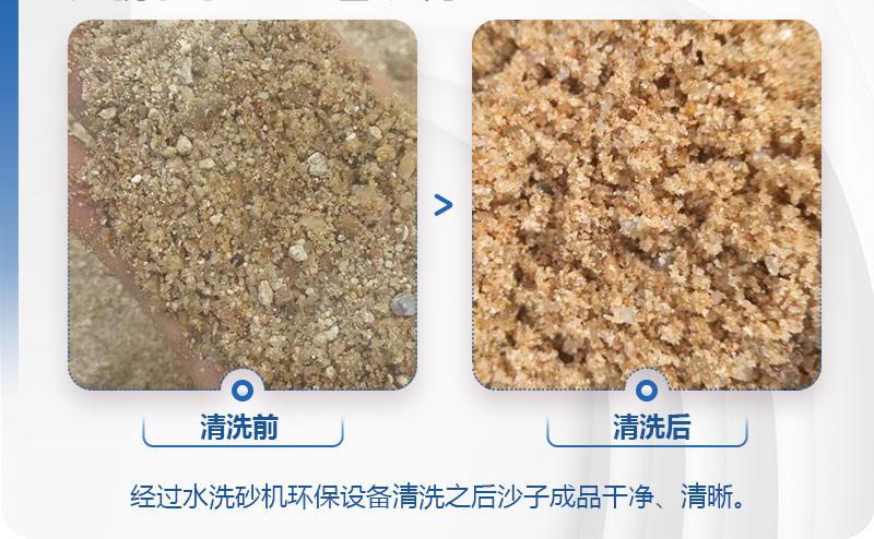 水洗沙机环保设备清洗物料前后对比图
