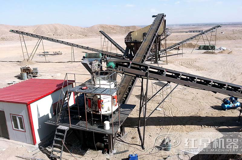 广州破碎制砂生产线现场