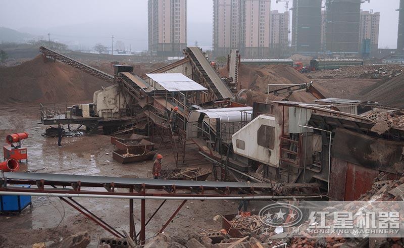 大型建筑垃圾再生利用厂现场图