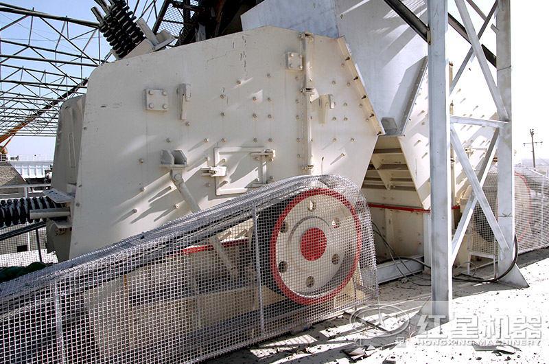 反擊式破碎機现场